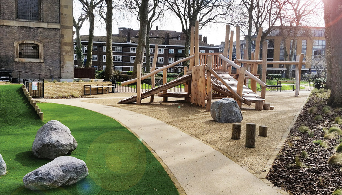 Community play area designed and built by Groundwork
