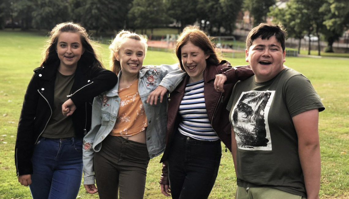 Young people from a youth project in Belfast
