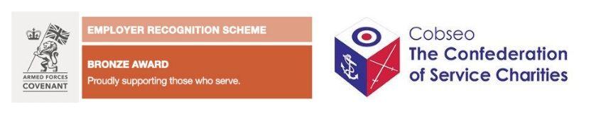 Covenant award bronze and Cobseo logos