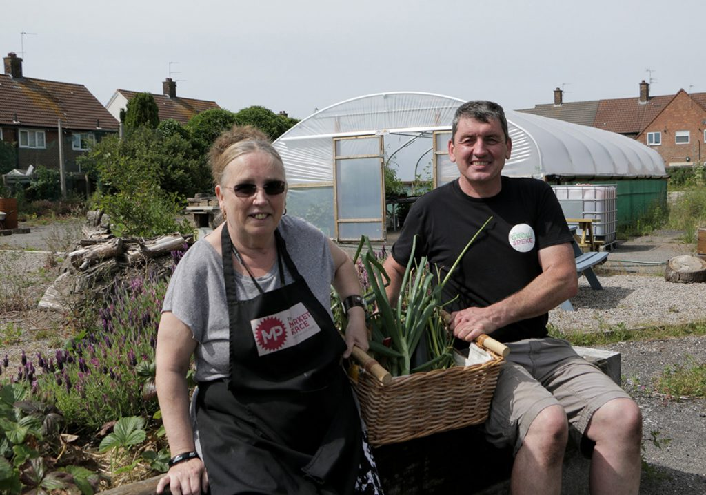 Grow Speke donating produce to The Market Place