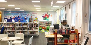Library at the @thegrange community centre managed by Groundwork