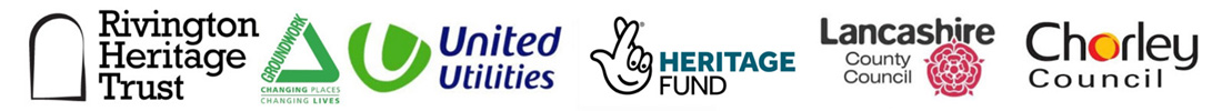Logos from Groundwork, United Utilities, Heritage Lottery Fund, Lancashire County Council and Chorley Council.