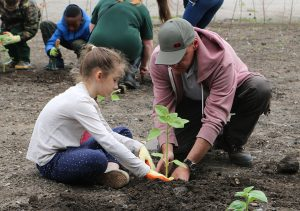 St Ambrose pupils at Grow Speke
