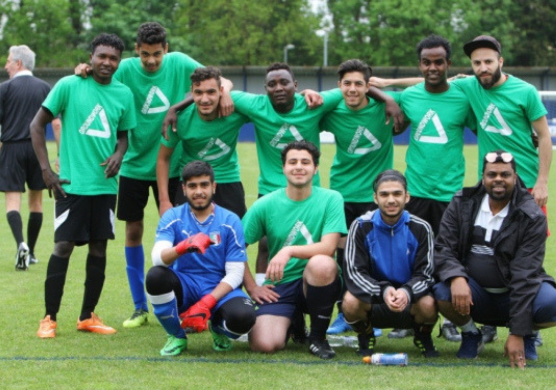 Footballers go green in a bid to win the Herts Homeless World Cup