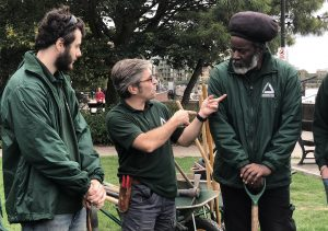 Two Groundwork Green Team trainees with their team leader