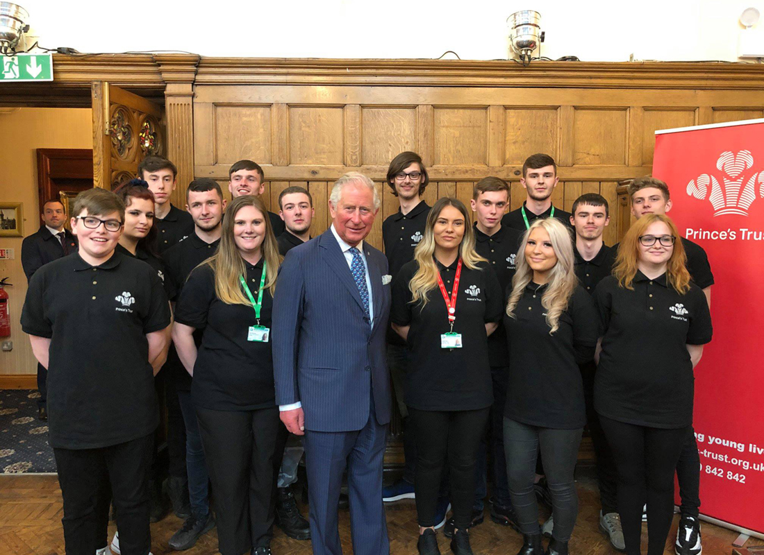 Prince's Trust team with Prince Charles