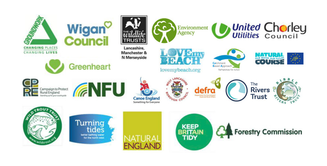 Logos of companies involved in the River Douglas Partnership