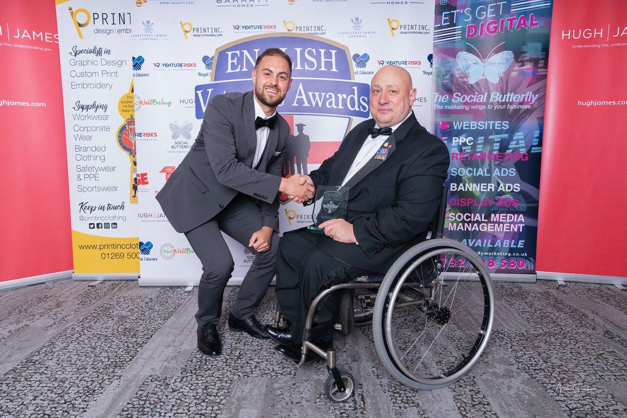Terry Morley wining veterans award