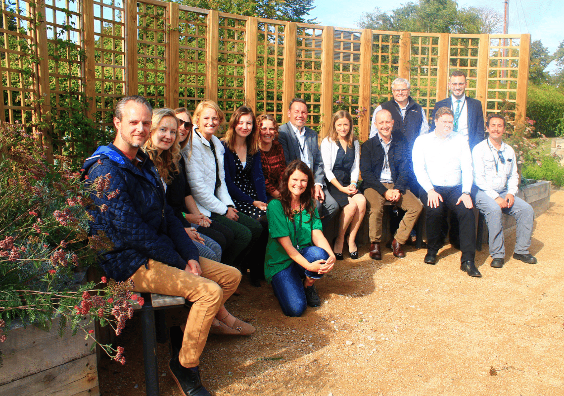 Guests see first-hand the impact community charity Groundwork East is making in Suffolk