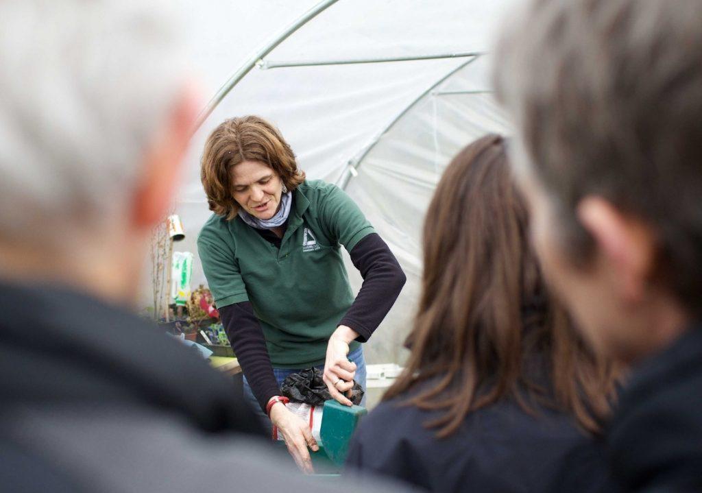 Groundwork employee delivering gardening training