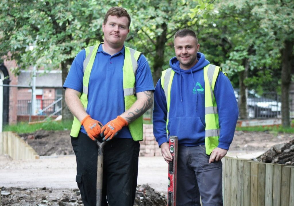 Two young groundwork trainees