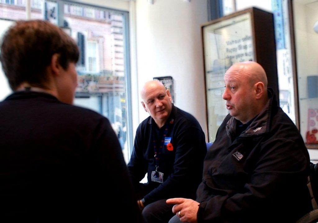 Terry Morley speaking to veterans