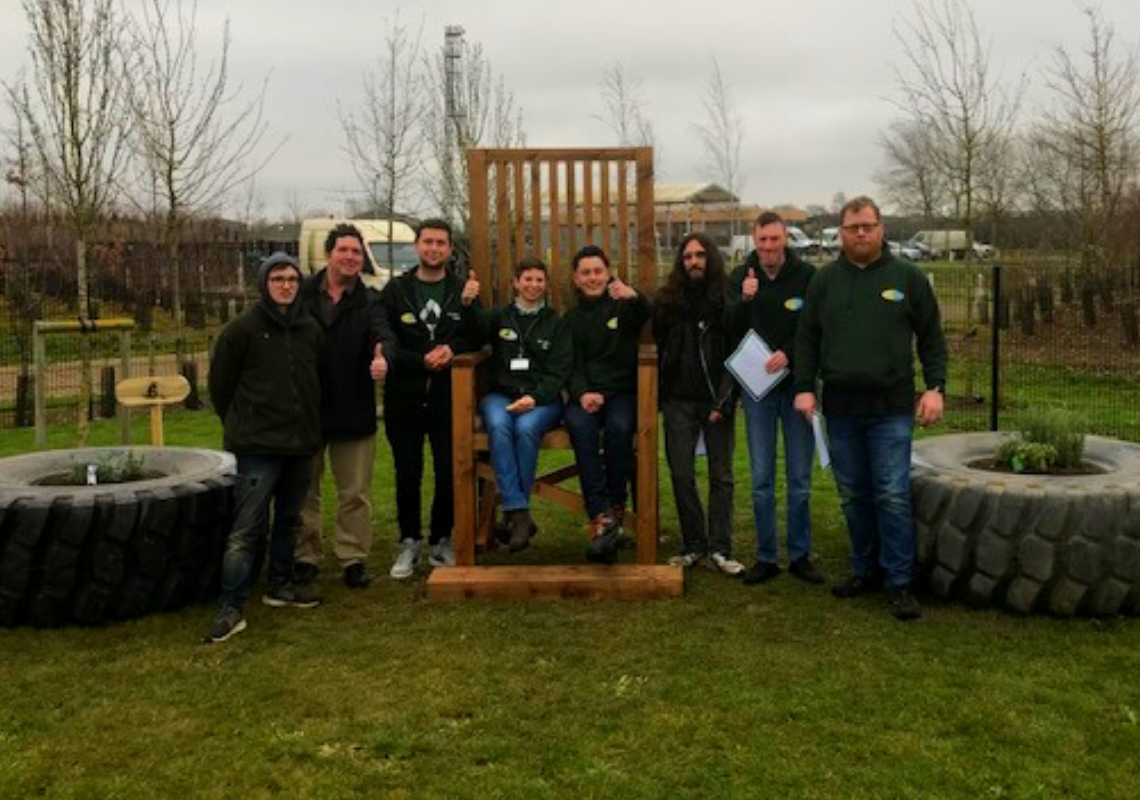 Alconbury School has a new inspiring outdoor area thanks to local volunteers