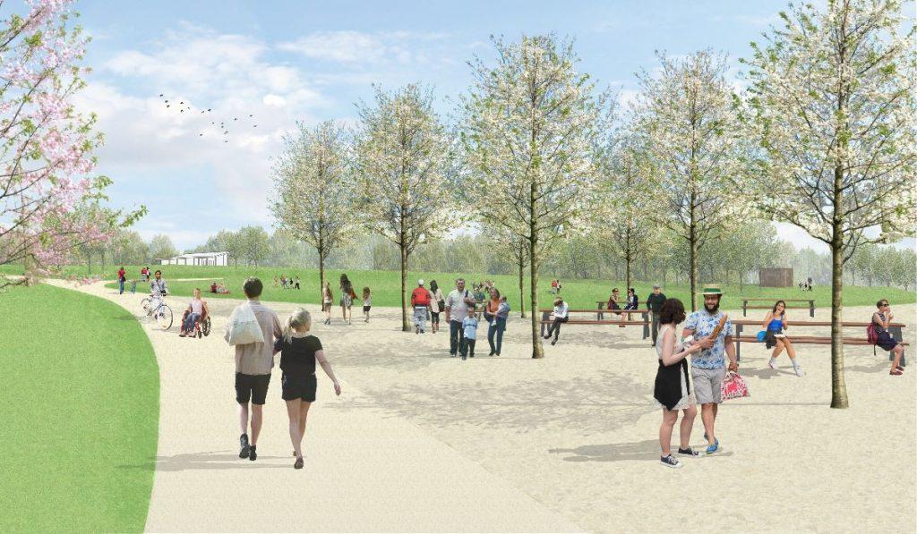 Illustration of picnic area