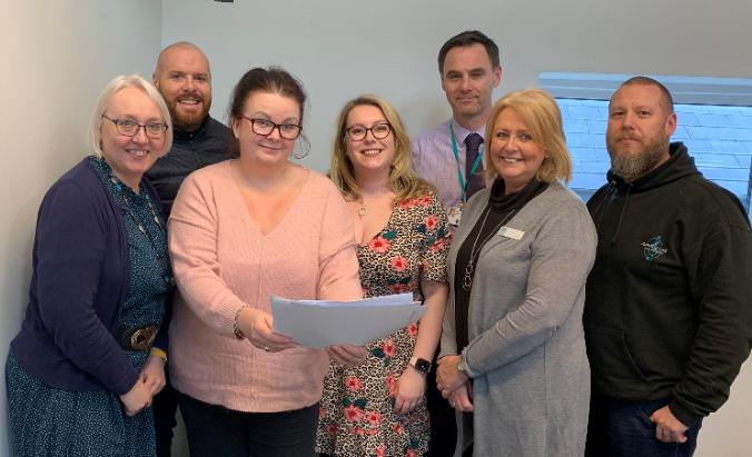 Business representatives involved in Warrington BID and Groundwork staff