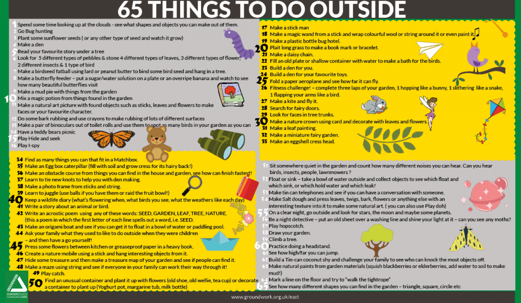 65 things to do outside