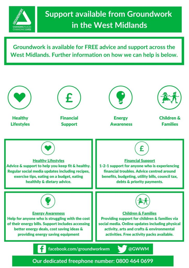Remote support offered by Groundwork West Midlands