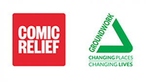 Comic Relief and Groundwork logos