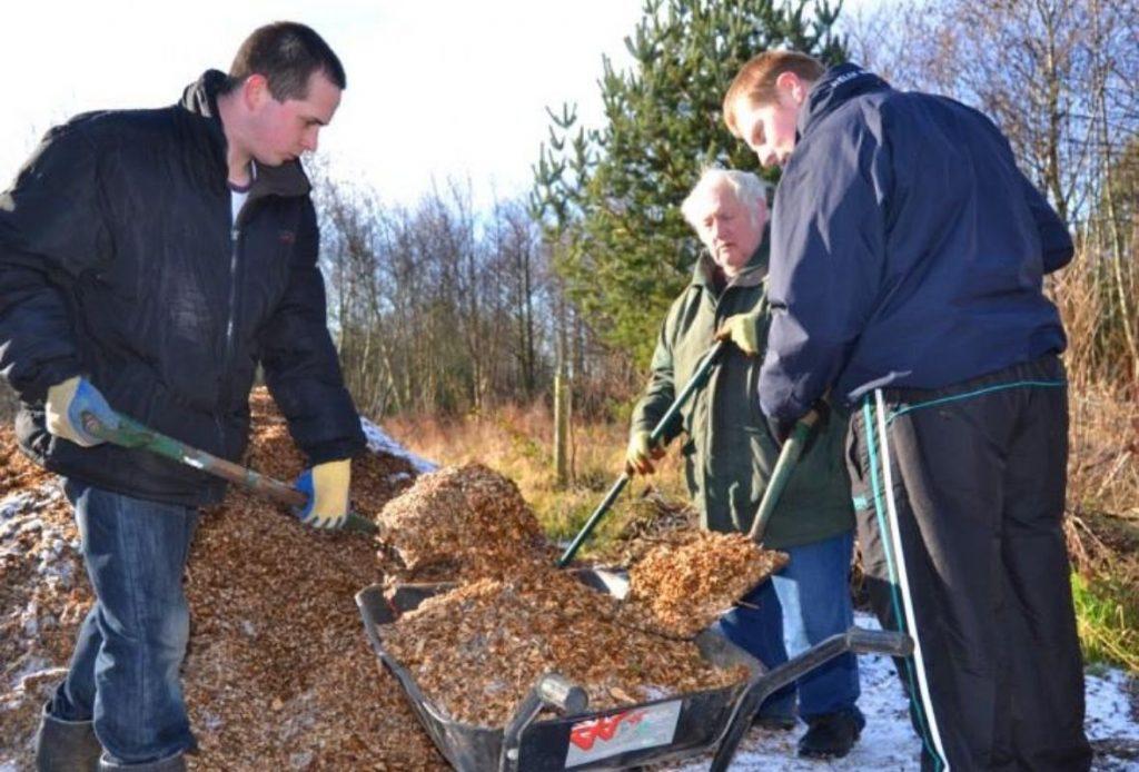 Volunteers at Monkton Community Woods