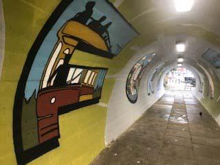 Latchford tunnel artwork