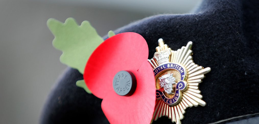 Poppy Remembrance on Beret