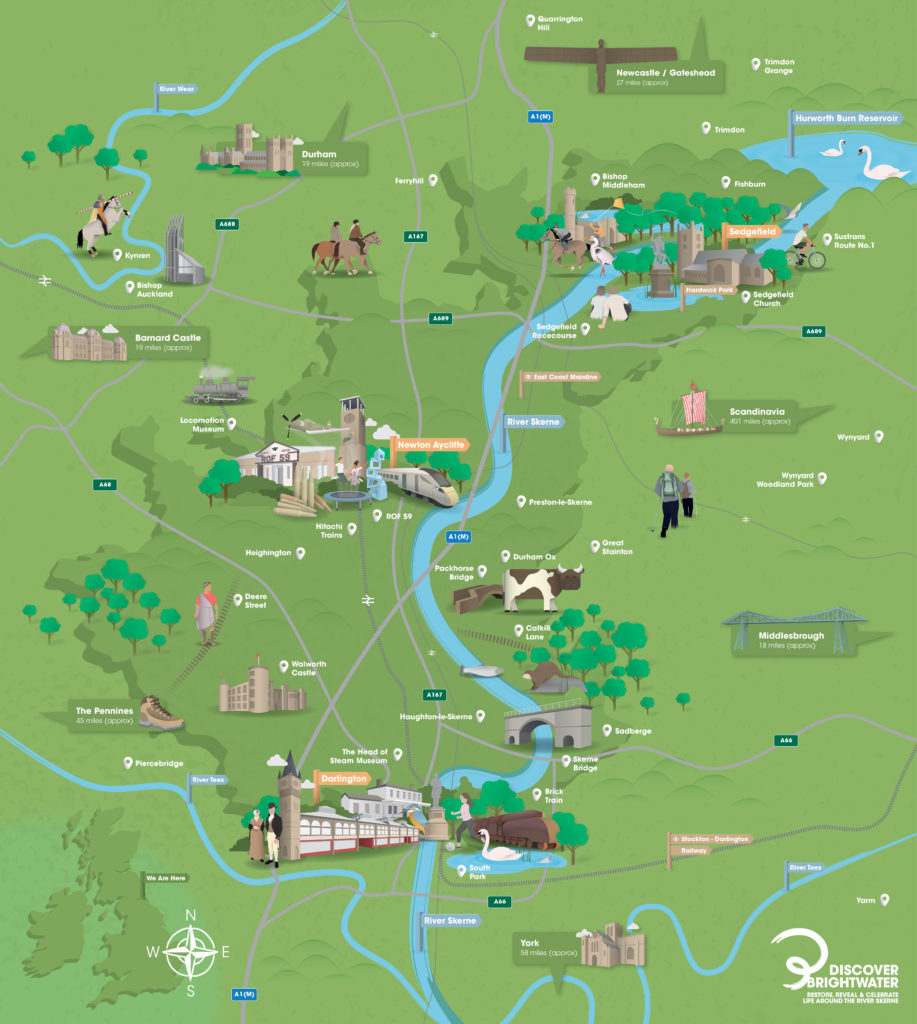 Brightwater map