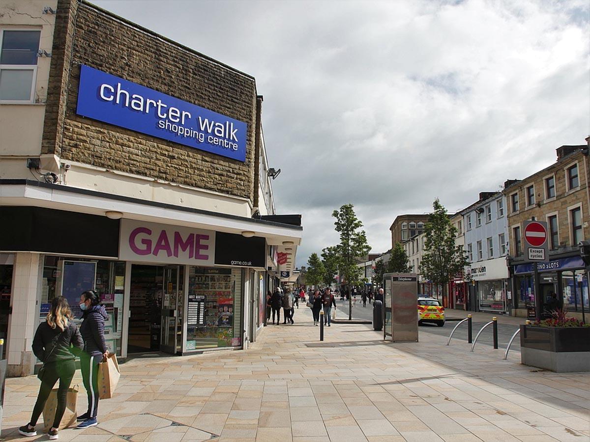 Burnley Town Centre shops