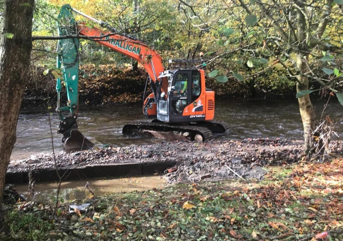 River Tonge weir removal
