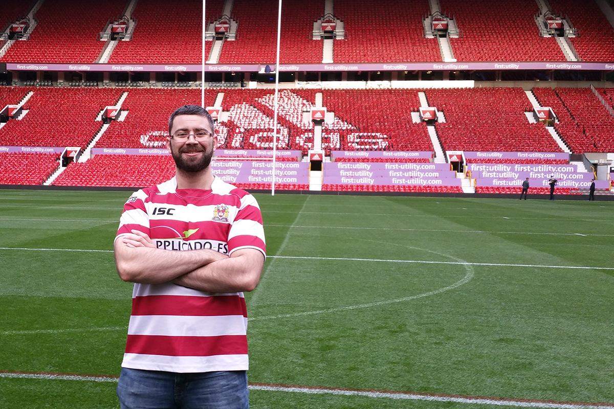 Sam Ford in rugby ground