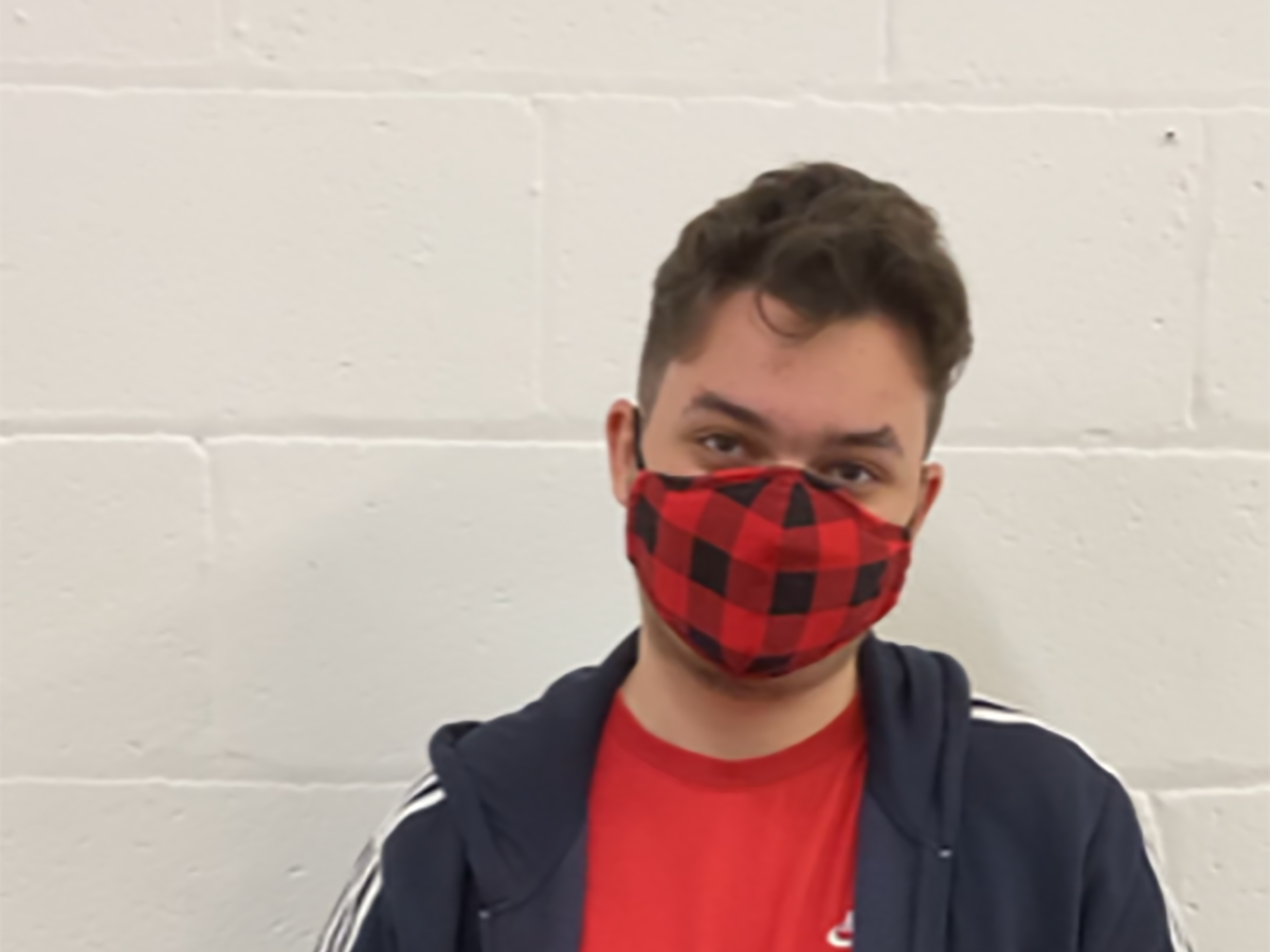 Jack with mask on