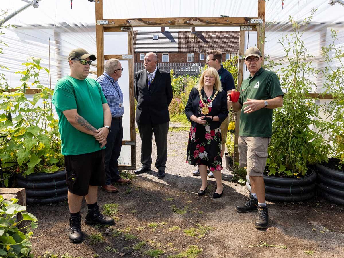 Mayor visits Grow Speke