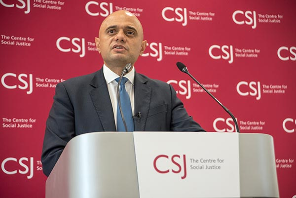 Secretary of State for Health and Social Care Rt Hon Sajid Javid MP giving speech
