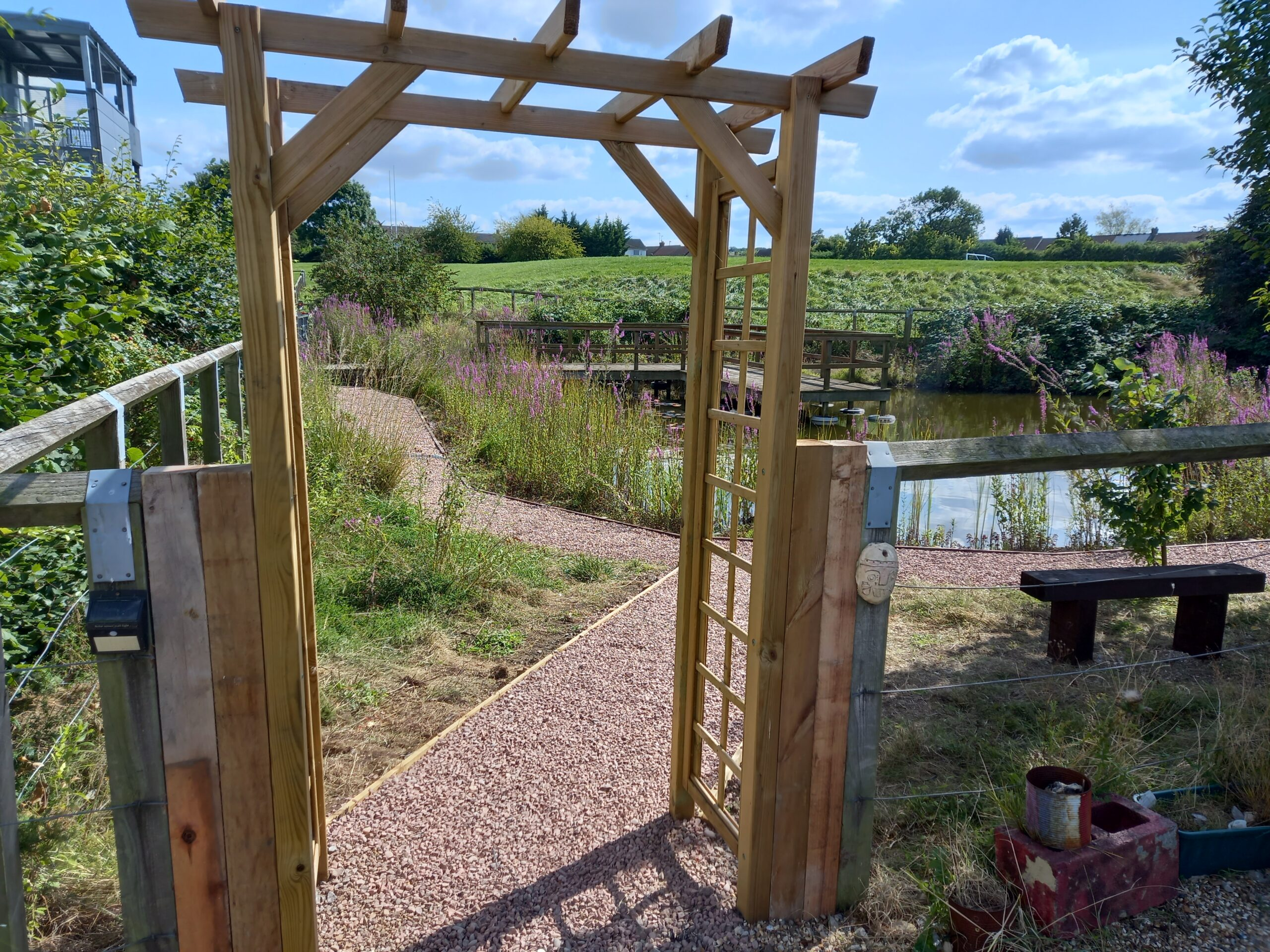 Academy gets improved nature area thanks to locals enrolled on an employment course
